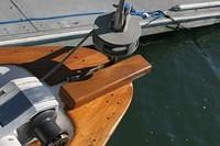 so I added a teak riser to the main anchor.