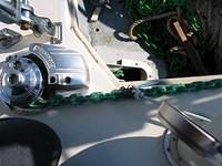 A view of my electric windlass and the reconfiguration of my anchor locker.