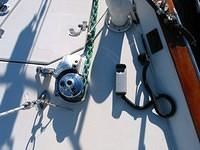 The windlass, and the hand-held remote that connects with a water-proof plug at the bow. I have a second hand held remote at the