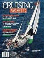 Lady Leanne on the cover of Cruising World